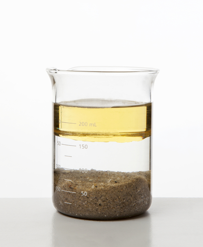 Beaker of different substances