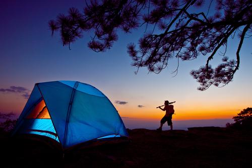 holiday camping - stock photo