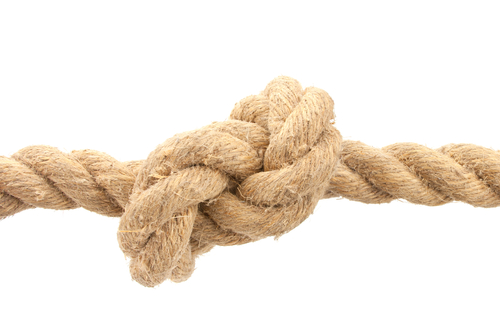 a rope with a knot