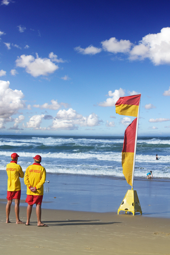 Life guards on a beach