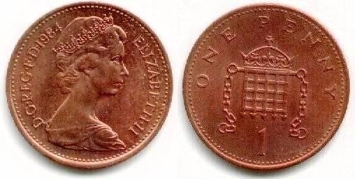2 1p coins