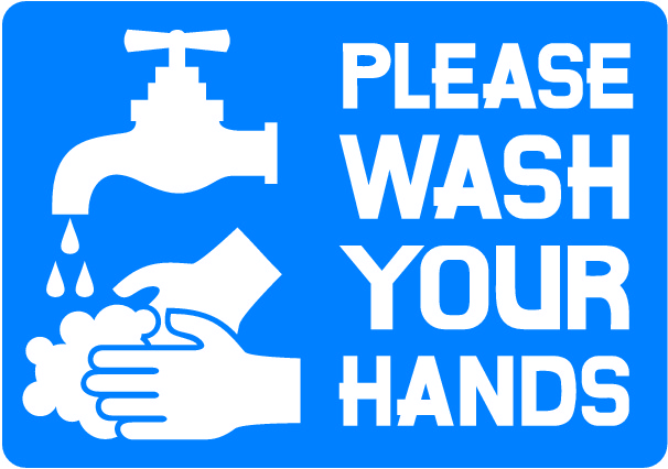 Sign saying please wash your hands