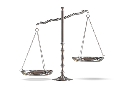 Scales - presumably of justice