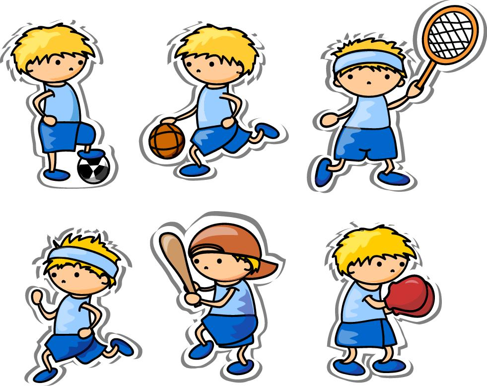 Image of cartoon playing sports