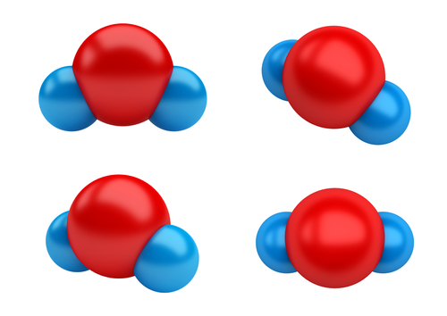 Image of water molecules