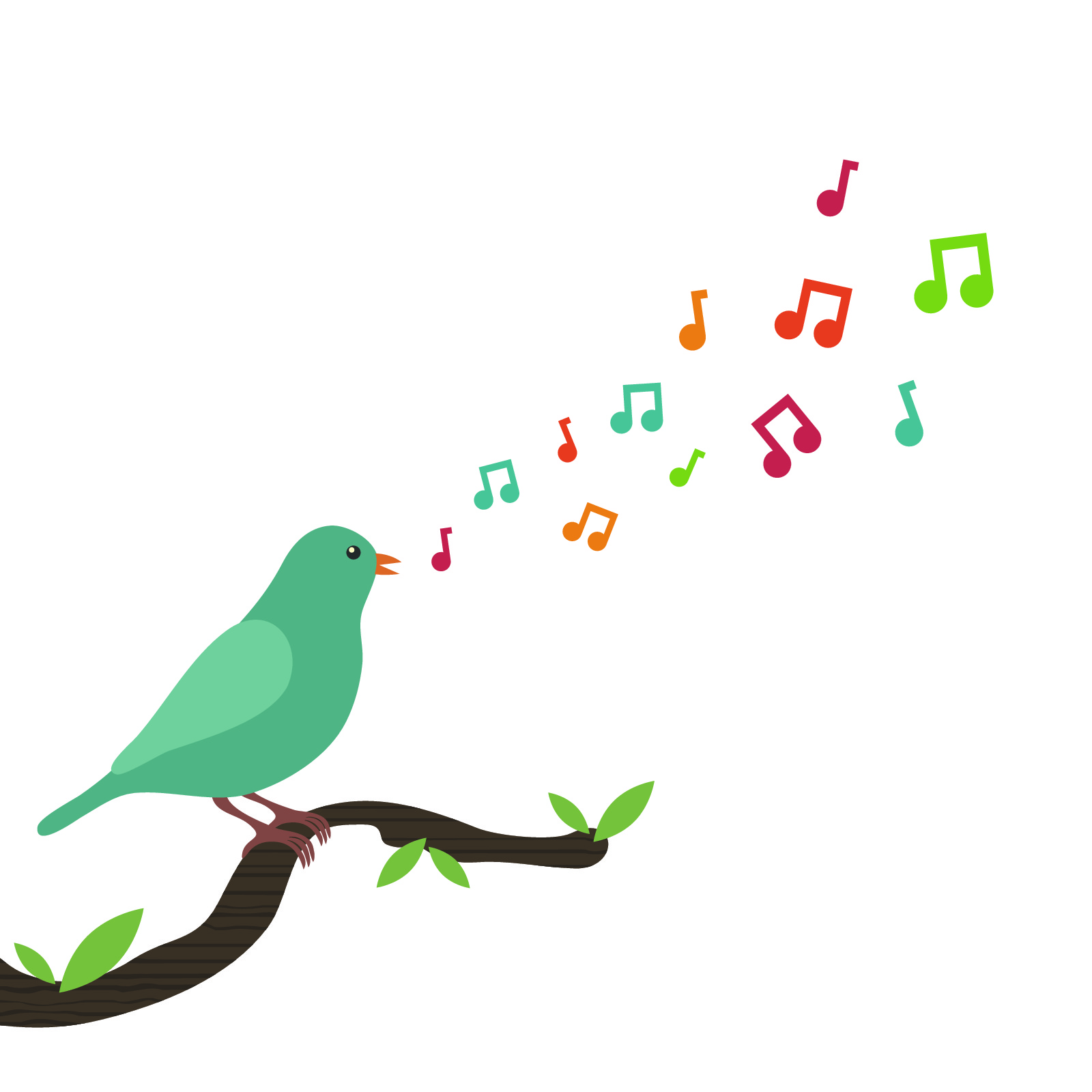 Love to  birds singing in the morning